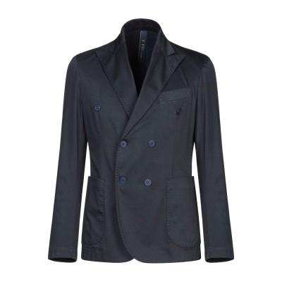 FAG テーラードジャケット ダークブルー 48 コットン 97% / ポリウレタン 3% テーラードジャケット
