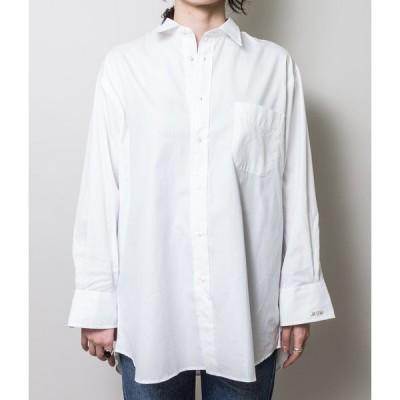 INDIVIDUALIZED SHIRT インディビジュアライズドシャツ   WOMEN'S BIG EGYPTIAN OX SHIRTS / MAIDENS SHOP WOMEN別注  (WHITE)