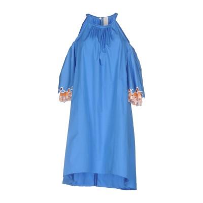ピーター・ピロット PETER PILOTTO ミニワンピース&ドレス ブルー 8 コットン 100% ミニワンピース&ドレス