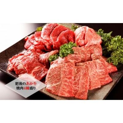 【熊本県産】GI認証取得 肥後のあか牛 焼肉盛合わせ750g(ロース・上カルビ・カルビ・モモ)4種セット