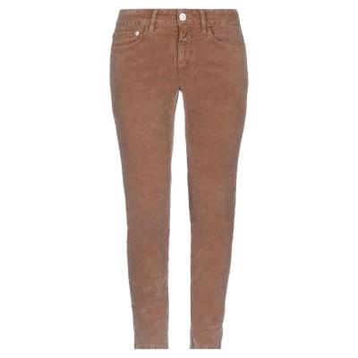 クローズド CLOSED パンツ ブラウン 24 99% コットン 1% ポリウレタン パンツ