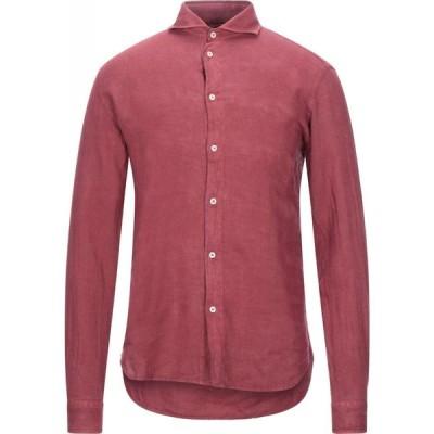 スティロソフィー インダストリー STILOSOPHY INDUSTRY メンズ シャツ トップス linen shirt Maroon