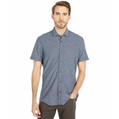 ヒューゴボス シャツ トップス メンズ Rash Button-Up Shirt Dark Blue
