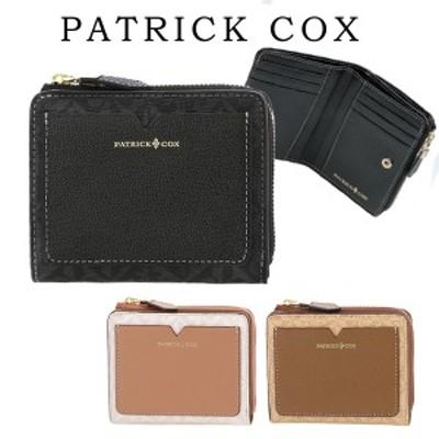 パトリックコックス PATRICK COX 財布 レディース L字ファスナー折り財布 牛革 ローマ PXLWABS2