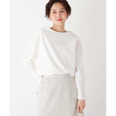 OPAQUE.CLIP / スーピマコットン ボートネックカットソー【WEB限定サイズ】 WOMEN トップス > Tシャツ/カットソー
