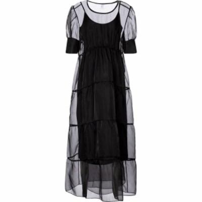 サー SIR レディース パーティードレス マキシ丈 ワンピース・ドレス Maelie silk organza maxi dress Black