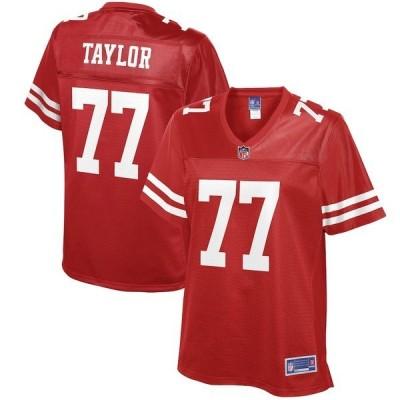 エヌエフエル プロ ライン レディース Tシャツ トップス Jullian Taylor San Francisco 49ers NFL Pro Line Women's Player Jersey