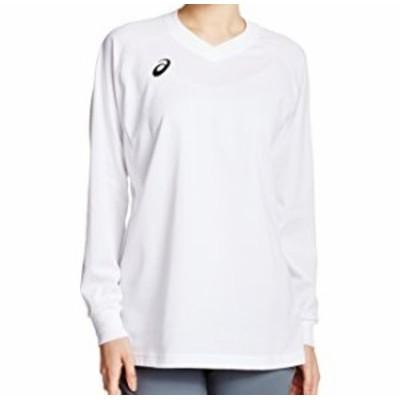 (アシックス)asics バレーボール プラシャツLS XW6608 0190 ホワイト/ブラック XO