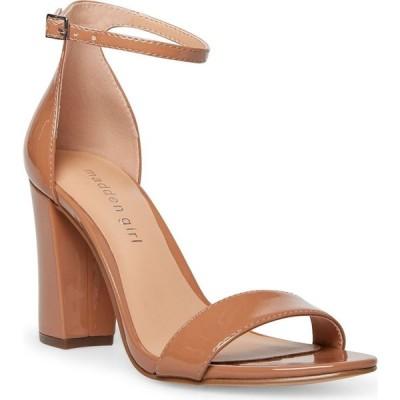 マッデン ガール Madden Girl レディース サンダル・ミュール シューズ・靴 Bella Two-Piece Block Heel Sandals Caramel Patent