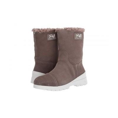 Sam Edelman サムエデルマン レディース 女性用 シューズ 靴 ブーツ ミッドカフ Kaylie - Flint Grey/Putty Wr Velour Suede Leather/Faux Shearling