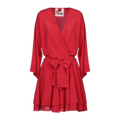 8PM ミニワンピース&ドレス レッド XXS アセテート 69% / シルク 31% ミニワンピース&ドレス