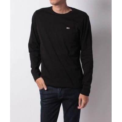 【トミーヒルフィガー】 ロゴロングスリーブTシャツ メンズ ブラック S TOMMY HILFIGER