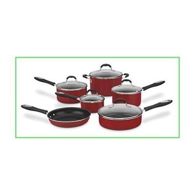 Cuisinart CIL22-20BBN Castlite ノンスティック鋳鉄フライパン 11 Piece レッド 55-11R [並行輸入品]