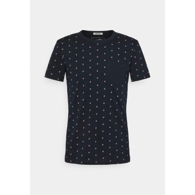トムテイラーデニム Tシャツ メンズ トップス Print T-shirt - navy