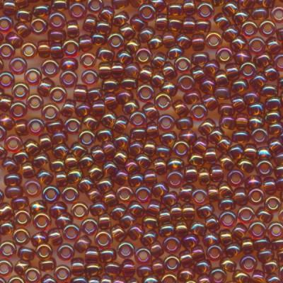 ミユキ 丸特小 極小 シードビーズ 15/0 約1.5mm #257 ライトブラウンスキAB 20グラムバラ 約5,500粒入り