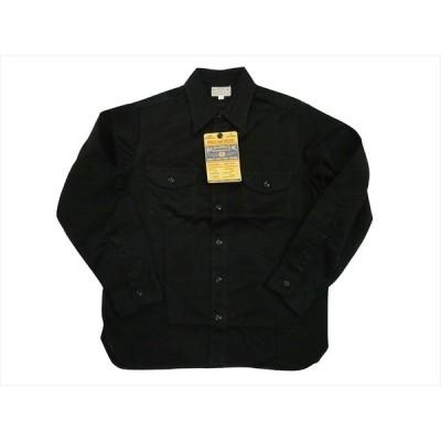 BUZZ RICKSON'S/バズリクソンズ 長袖シャツ BR26081 ヘリンボーン・ミリタリー・長袖ワークシャツ ブラック