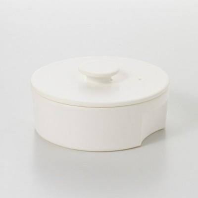 土鍋 耐熱陶器 日本製 おしゃれ ホワイト 6号 1-2人用(ガス火専用)