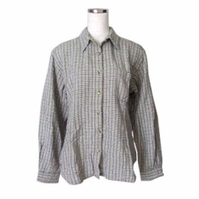 美品 Columbia コロンビア タータンチェックネルシャツ (グレー USA) 109224【中古】
