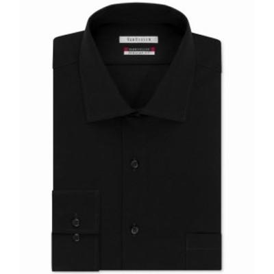Pocket  ファッション ドレス Van Heusen Mens Deep Black Size 18 Big And Tall Pocket Dress Shirt