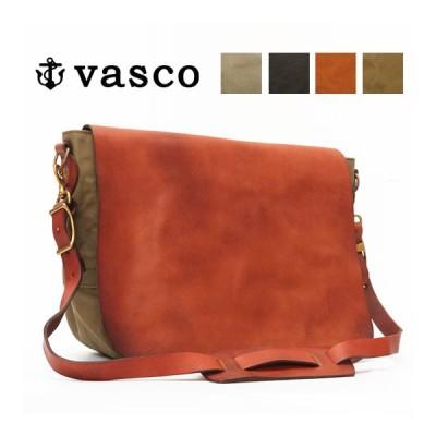 バスコ VASCO キャンバス×レザー メイルバッグ LARGE ショルダーバッグ U.S.MAIL 刻印無し MADE IN JAPAN ヴァスコ VS-248P 【2020年 秋冬 新作】