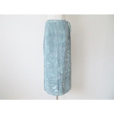 #snc  マリナリナルディ MARINARINALDI スカート 15 大きいサイズ グレー イタリア製 麻 巻きスカート レディース [575312]