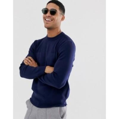 ラコステ メンズ ニット・セーター アウター Lacoste crew neck sweater Navy