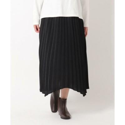 THE SHOP TK / ザ ショップ ティーケー アコーディオンプリーツ イレギュラーヘムスカート