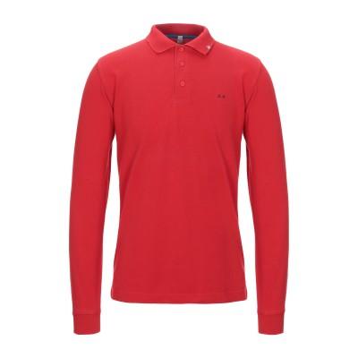 サンシックスティエイト SUN 68 ポロシャツ レッド S コットン 100% ポロシャツ