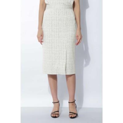 [ウォッシャブル]ジャガードジャージセットアップスカート ホワイト1