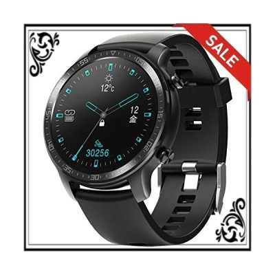 YIRSUR スマートウォッチ 活動量計 腕時計 万歩計 着信通知 音楽制御 IP68レベル防塵防水 メンズ/レディース iPhone/
