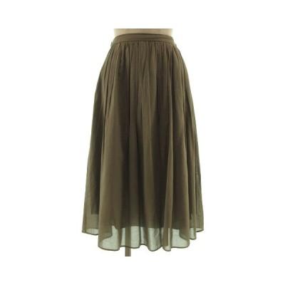 【中古】ボールジー BALLSEY トゥモローランド スカート ギャザースカート ミディ丈 コットン 日本製 グレージュ 36 レディース 【ベクトル 古着】