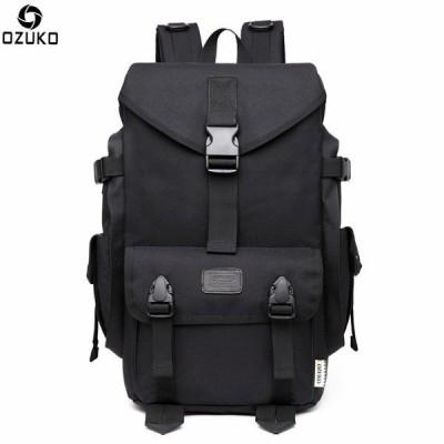 OZUKO 大容量旅行バック 防水 男性ファッション通学男性トラベルバッグ パソコンティーンエイジャー多機能旅行男性スクールバッグ