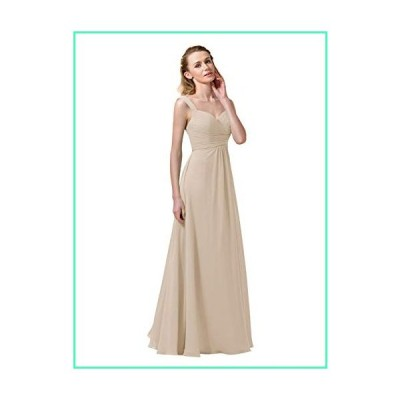 Alicepub Chiffon Bridesmaid Dresses Long Formal Party Dress for Women Girls Special Occasions, Biscotti, Custom Size並行輸入品