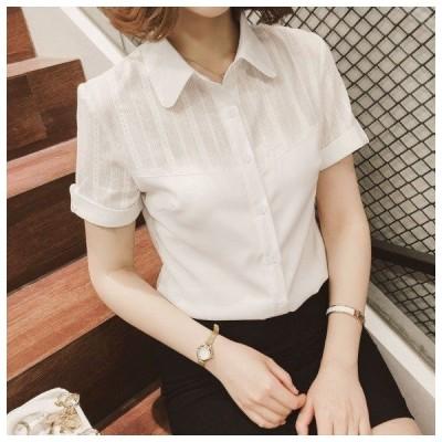 ワイシャツ半袖クールビズ事務服制服ワイシャツレディース半袖ワイシャツシャツブラウスOL通勤着フォーマルビジネス