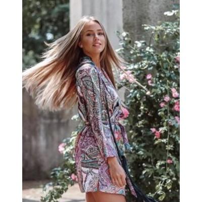 Paisley  ファッション 衣類 NWT ZARA SS18 PAISLEY PRINT BLAZER-STYLE DRESS BELT JACKET 2761/846_XS S M L