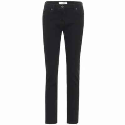 ヴァレンティノ Valentino レディース ジーンズ・デニム ボトムス・パンツ Mid-rise skinny jeans Nero/Bianco
