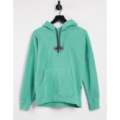 クイックシルバー レディース パーカー・スウェット アウター Quiksilver patterned ties hoodie in green Marine green