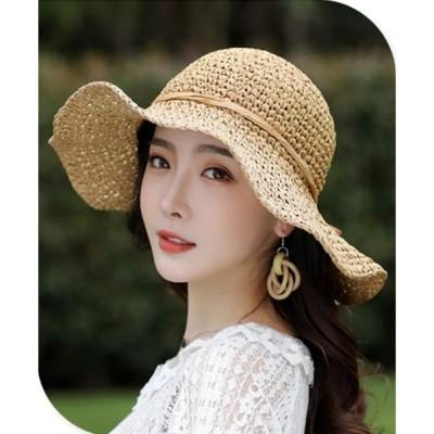 帽子 おしゃれ レディース 麦わら帽子 女性 夏物 新作 ビーチ バイザー 日焼け防止 旅行 麦わら帽子 rbos006