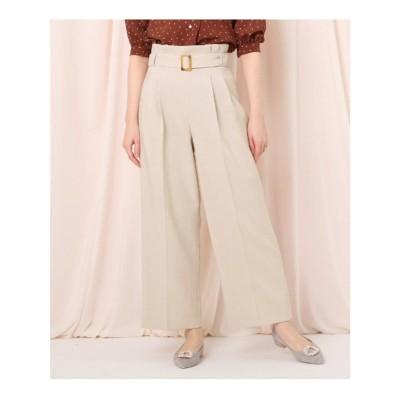 クチュール ブローチ Couture brooch 【セットアップ可/WEB限定サイズ(LL)あり】リネンライクベルテッドワイドパンツ (ナチュラル)