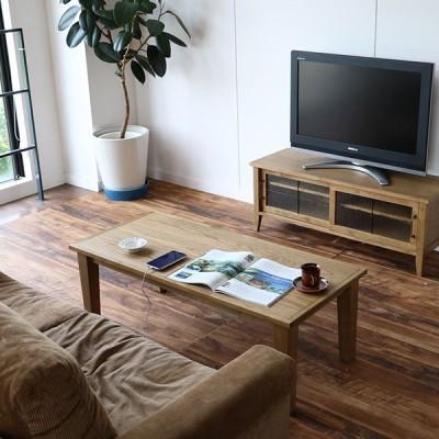 センターテーブル 木製 おしゃれ 幅90 テーブル ヴィンテージ ローテーブル 長方形 リビングテーブル 作業台 天然木 オーク材