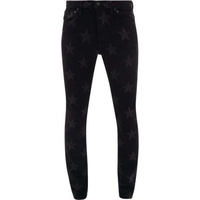 タカヒロミヤシタザソロイスト TAKAHIROMIYASHITA TheSoloist. メンズ ジーンズ・デニム ボトムス・パンツ Star-print slim-leg jeans Black