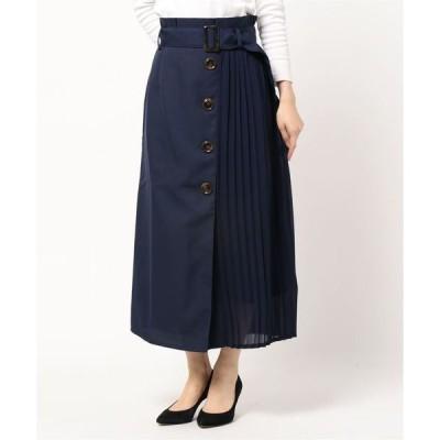 スカート CR サイドプリーツ前ボタンスカート
