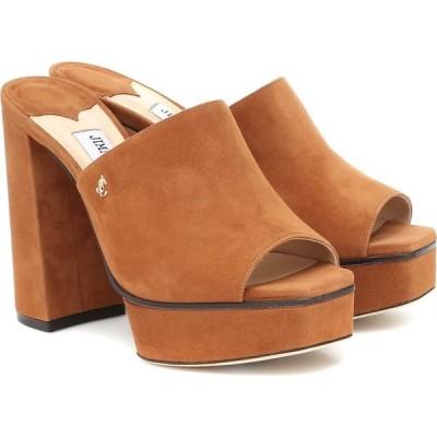 ジミー チュウ Jimmy Choo レディース サンダル・ミュール シューズ・靴 Sue 115 suede sandals Cuoio