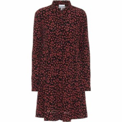 ガニー Ganni レディース ワンピース シャツワンピース ワンピース・ドレス floral crepe shirt dress Black
