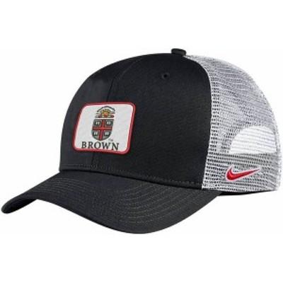 ナイキ メンズ 帽子 アクセサリー Nike Men's Brown University Bears Classic99 Trucker Black Hat