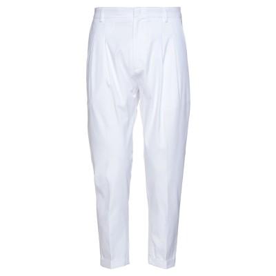 LOW BRAND パンツ ホワイト 34 コットン 97% / ポリウレタン 3% パンツ