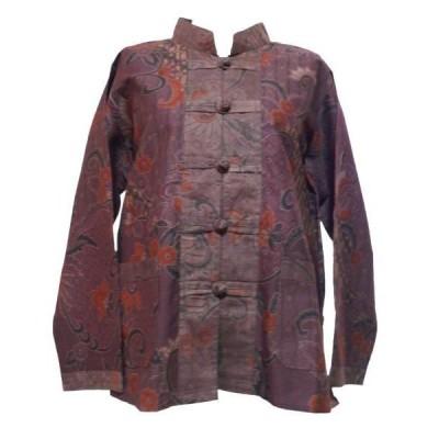 ブラウス アジアン衣料 バティック・チャイナ・ブラウス8 クリックポスト選択 送料200円