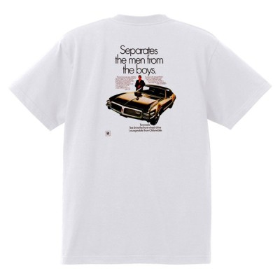 アドバタイジング オールズモビル 564 白 Tシャツ 黒地へ変更可能 1968 カトラス ビスタ トロネード 98 88 デルタ ホットロッド ローライダー