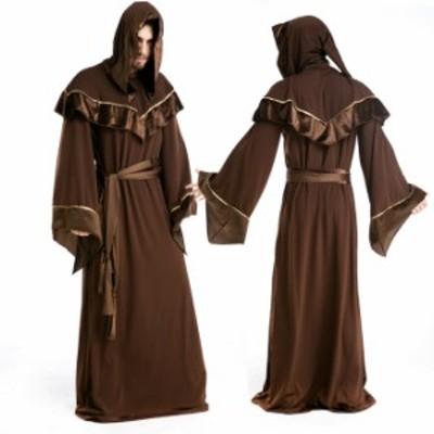 ハロウィン  シャーマン ヨーロッパ風 祈祷師 男性用 メンズ 仮装 コスプレ衣装 ps2437