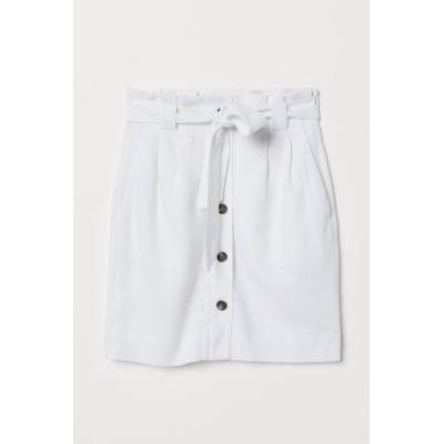 H&M - ペーパーバッグスカート - ホワイト